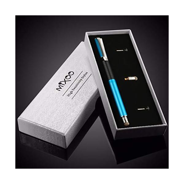 Mixoo Stylus 2 in 1 Lapiz Táctil Capacitivo con Puntas de 2 Repuesto Discos y 1 de Fibra para Pantallas Táctiles Apple… 10