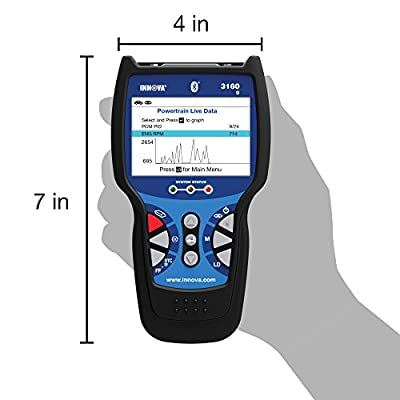 Innova 3160g Pro OBD2 Scanner / Car Code Reader with Live data, ABS, SRS, Battery Reset, Service Light Reset, and Bluetooth: Automotive