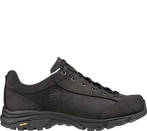 Black Schwarz de Valungo Bunion Mujer Zapatos Senderismo para Low Hanwag Rise F1pqHw