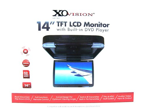 """Xovision GX1401 14""""TFT LCD Monitor With Built-In dvd Player-SD Card Slot-Swivel"""