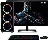 Computador PC Gamer Completo Intel Core i5 8GB Geforce GT730 2GB HD 1TB Monitor HDMI 21.5 Full HD Quantum Play