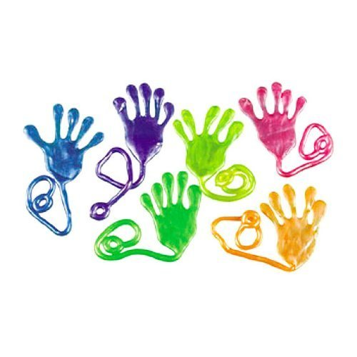 Fun Express Jumbo Pearlized Sticky Hands (1 Dozen) -