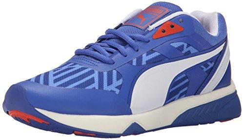 PUMA Womens 698 Ignite Stripes Sportstyle Sneaker Dazzling Blue/White