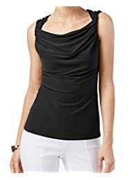 Anne Klein Womens Twisted Sleeveless Pullover Top