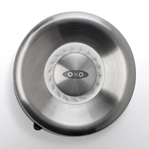 OXO Good Grips Sleek Salt Mill with Adjustable Grind,Silver,