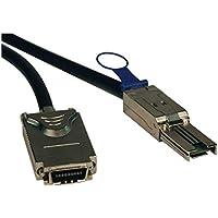 Tripp Lite S520-01M External SAS Cable, 4 Lane - mini-SAS (SFF-8088) to 4xInfiniband (SFF-8470) - SAS external cable - 4-Lane - 26 pin 4x Shielded Mini MultiLane SAS (SFF-8088) - 4x InfiniBand - 3.3 ft - black
