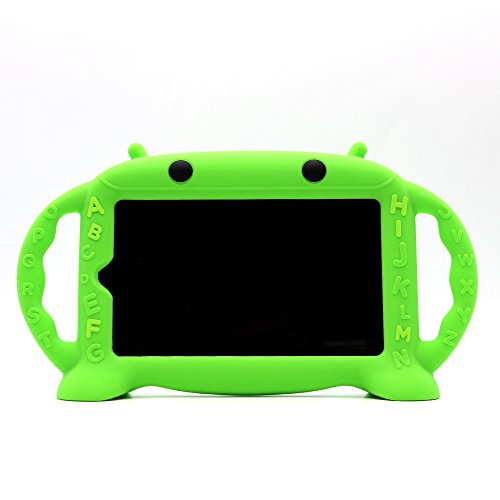 All-New Amazon Fire 7 Case Kids Friendly Shockproof Silicone Handle Stand Protective Cover for Fire 7 Tablet (5th gen, 2015 & 7th gen, 2017 release)[BPA FREE] (Upgraded Green)