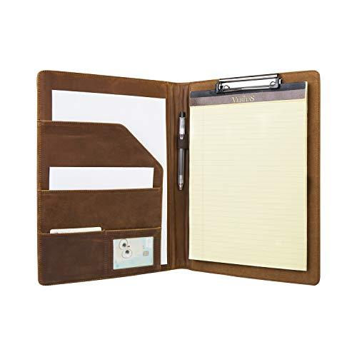 Asini Handmade Clipboard Folder,Business Leather A4 File Folder,Vintage Presentation Folder A4
