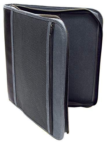 - 1.5 inch Zipper Binder by Better Office Products, Letter Size, 3 Ring Binder, Durable Canvas, Blue or Gray, School Binder