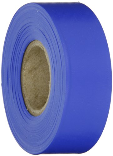 (Brady Blue Flagging Tape for Boundaries and Hazardous Areas - Non-Adhesive Tape, 1.188