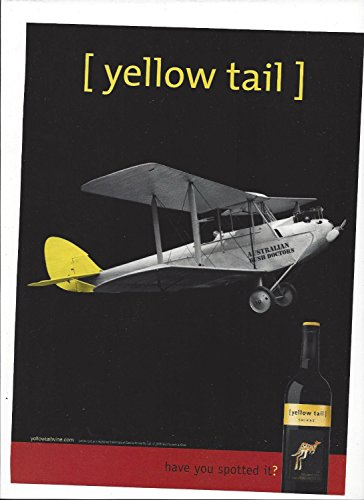 MAGAZINE ADVERTISEMENT For 2006 Yellow Tail Shiraz Wine Biplane Scene