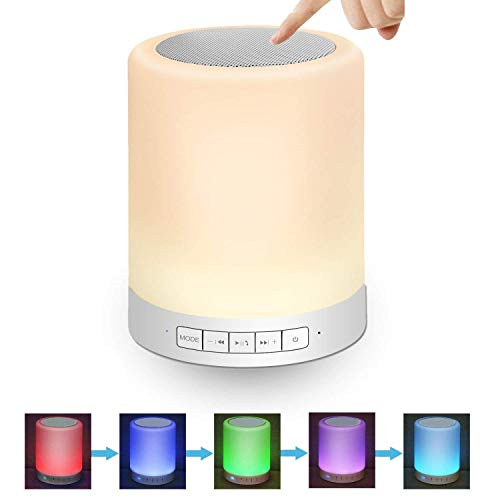 Digi Marker Night Light Portable Wireless Bluetooth Speakers - Touch Control Colorful Table Lamp Wireless Bluetooth Music Player Support TF Card