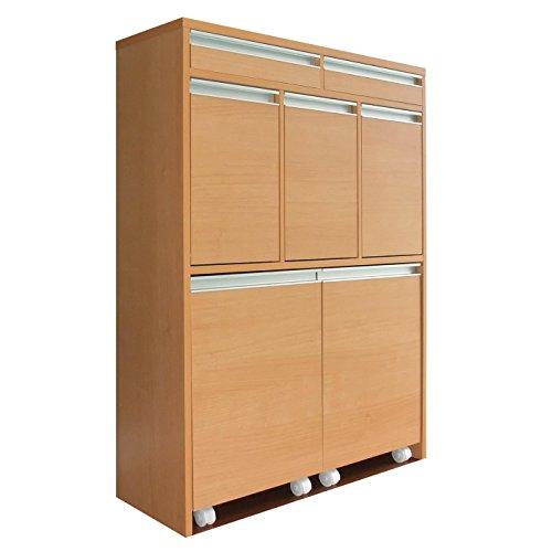 【室内設置サービス付き】家具製造直販TAICHI -見せるゴミ箱収納グランデ家具調5分別ダストボックス/ナチュラルブラウン B01N2N3349 ナチュラルブラウン ナチュラルブラウン