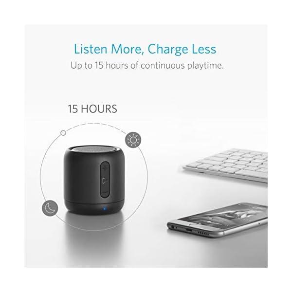 Anker SoundCore mini Enceinte Bluetooth Portable - Haut Parleur avec Autonomie de 15 Heures, Portée Bluetooth de 20 Mètres, Port Micro SD, Micro et Basses Renforcées 6