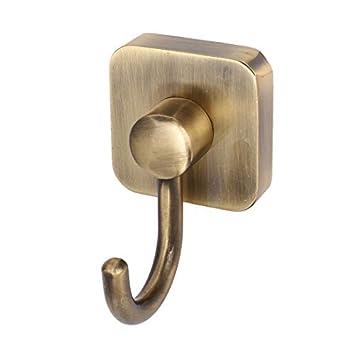 eDealMax Baño Escudo Bufanda gancho del metal del tono suspensión de la pared de bronce