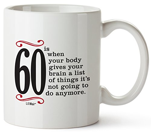 (60th Birthday Gifts For Women Sixty Years Old Men Gift Mug Happy Funny 60 Mens Womens Womans Wifes Female Man Best Friend 1959 Mugs Male Unique Ideas 59 Woman Wife Gag Dad Cute Girls Guys Good Husband)