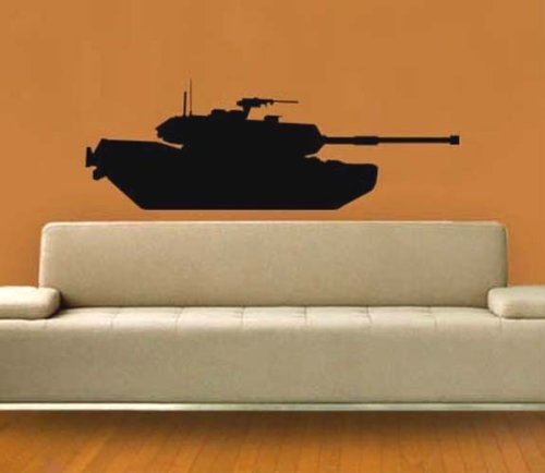 Army M1 Abrams Tank Profile Vinyl Wall Art Sicker Decal Many Colors