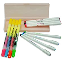 Siruier Colored Gel Pens Set With Pencil Case And Twin Highlighter Maker Pens(Pink Case)