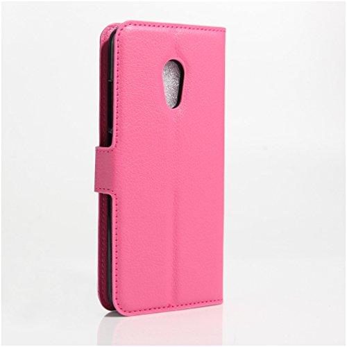 Funda MEIZU Pro6,Manyip Caja del teléfono del cuero,Protector de Pantalla de Slim Case Estilo Billetera con Ranuras para Tarjetas, Soporte Plegable, Cierre Magnético G