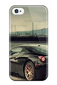 New Tpu Hard Case Premium Iphone 4/4s Skin Case Cover(amazing Black Car S)