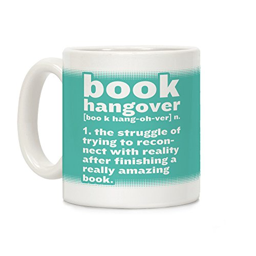 LookHUMAN Book Hangover Definition White 11 Ounce Ceramic Coffee Mug