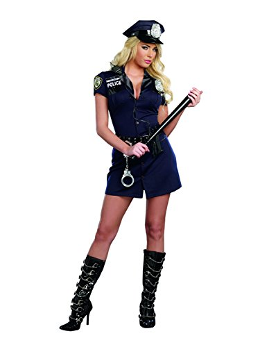 [Dreamgirl Women's Officer Randi Cop Costume, Blue, Medium] (Costumes For Women Cop)