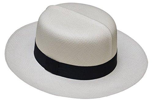 bf41dc6ae OPTIMO Montecristi Panama hat grade 14/15 , color white , lace black