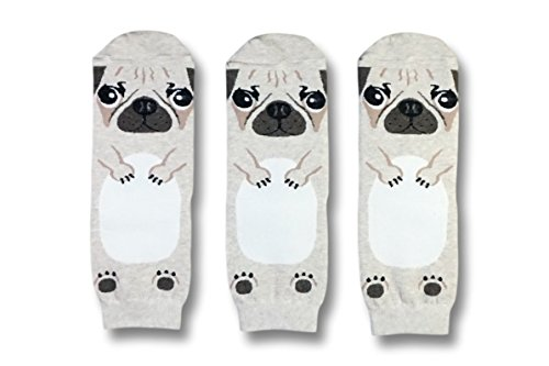 DearMy Funny Animal Design Novelty Casual Cotton Crew Socks| Animation Print | Good for Gift Idea (Bulldog 3 Pairs)