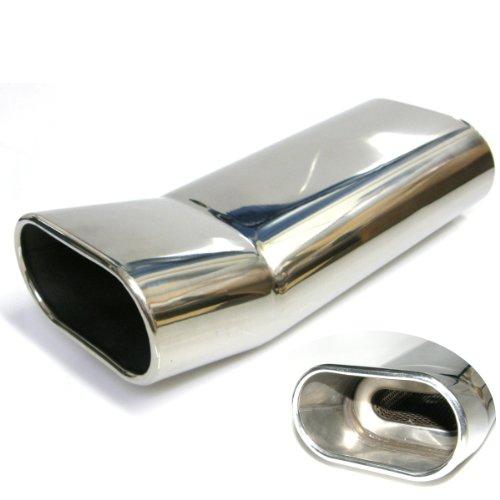 uner6901 –  Tube Inox Pot d'é chappement End acier inox Embout d'é chappement ovale Oblique absorbant uncarparts