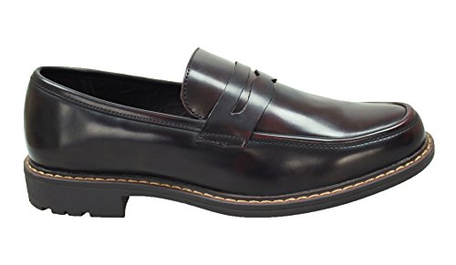 class eleganti slip shoes ecopelle marrone Mocassini on man's uomo scarpe 5qUU0F