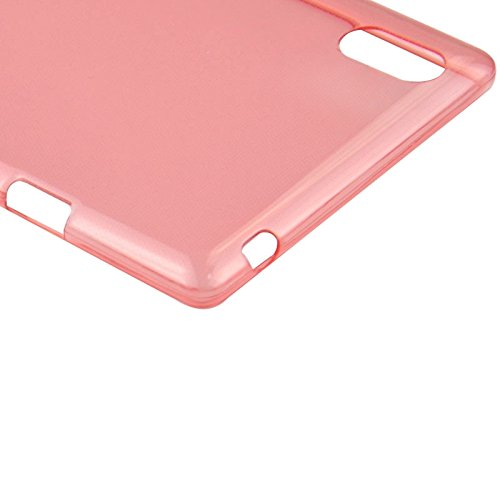 Mxnet 0.45mm Ultradünnes Polycarbonat Material TPU & Jelly Case für Sony Xperia T3 rutschsicher Telefon-Kasten ( Color : Red )