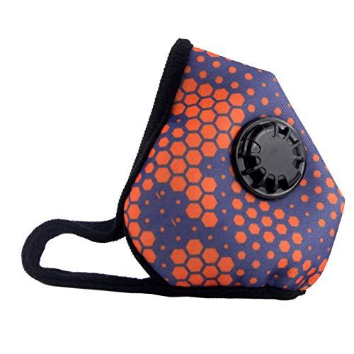 Muryobao Anti Pollution Mask Masque de respirateur de grade militaire N99 avec filtre de rechange de valve lavable coton anti masque de bouche anti-poussière pour hommes femmes ruche