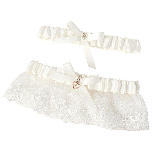(GRACE KARIN Ivory Wedding Garter for Brides with Toss)