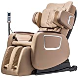 Massage Chair,Zero Gravity Full Body Electric Shiatsu Massage Chair Recliner with Built-in Heat Therapy Foot Roller Air Massage System SL-Track Stretch Vibrating Wireless Bluetooth Speaker (Brown)