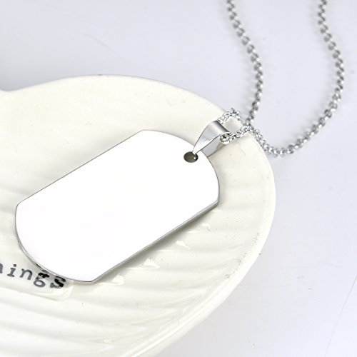 Stainless Steel Dog Tag Letters ''To my son....love mom'' Pendant Necklace,Inspirational Gifts For Son Jewelry by danjie (Image #4)