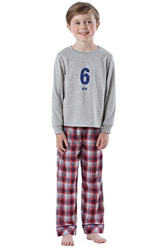 PajamaGram Big Boys Pajamas Set - Personalized Birthday PJs for Boys, Kids PJs