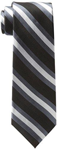 Tommy Hilfiger Men's Repp Stripe Tie, Black, One Size ()
