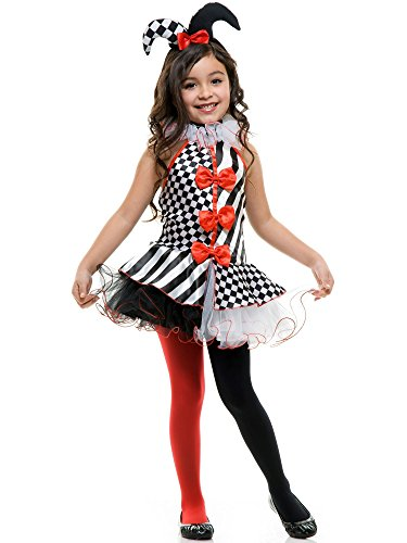 Charades Black & White Jester Children's Costume, Medium]()