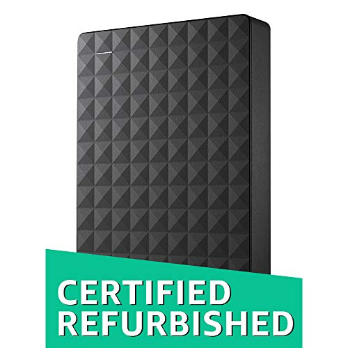 Seagate Expansion 4TB Portable External Hard Drive USB 3.0 (STEA4000400) (Certified Refurbished) -
