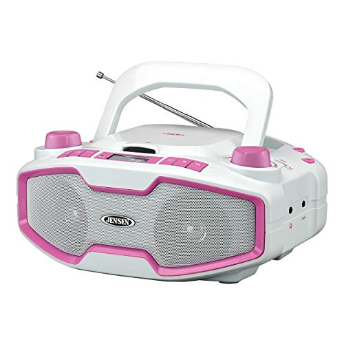 Jensen CD-575 Pink Portable Sport Stereo Boombox CD/MP3 Play