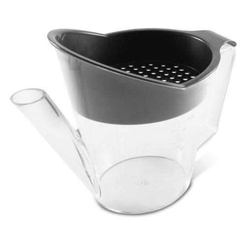 Gravy Boat Gray (Heat Resistant Gravy Fat Separator Strainer 4 Cup by BigKitchen)