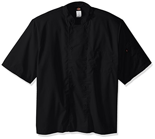 Dickies Chef Cool Breeze Short-Sleeve Coat, Black, 4X-Large by Dickies