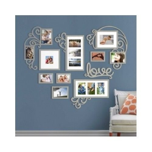 Moon Daughter Wedding Love Heart Wall Picture Frame Sets Collage Multi Photo 4x6 5x7 Home Decor