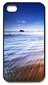 iPhone 4S Case and Cover -Beach Waves PC case Cover for iPhone 4 and iPhone 4s ¡§CBlack