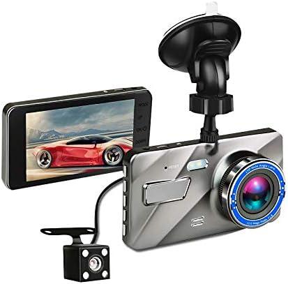 Tamkyo 4インチ 車載DVRビデオダッシュカム 170度 HD 1080Pデュアルレンズのカメラ ナイトビジョン 前後 レコーダー