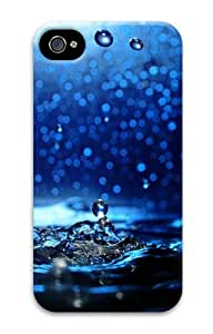 iPhone 4S Case, iPhone 4S Cases -Water dripping close up Polycarbonate Hard Case Cover for iPhone 4/4S