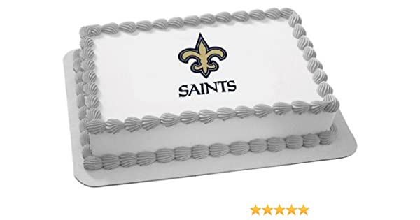NFL New Orleans Saints Edible Photo Cake Image Frosting Birthday Decoration