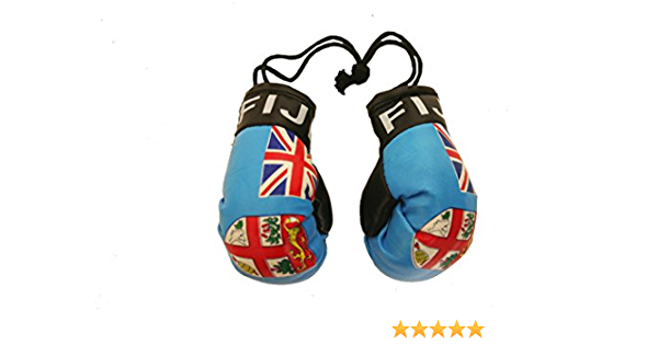 YGMONER Mini Boxing Gloves Automobile Mirror Hang with Gift Football Keychain USA