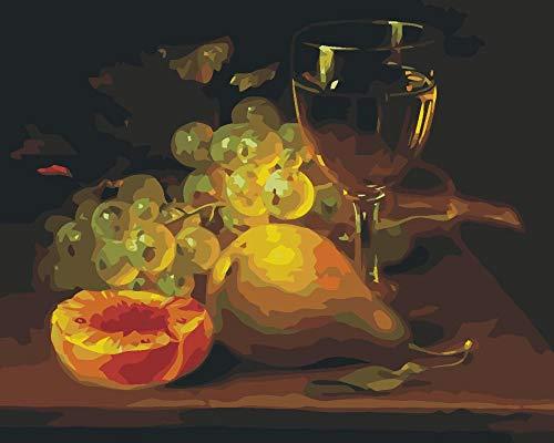 nobrand DIY Pintura Al Óleo Dibujo Mesa De Comedor Pintar por Numeros para Adultos Ninos Pintura por Numeros con Pinceles Y Pinturas Decoraciones para El Hogar Flor Purpura 40X50Cm