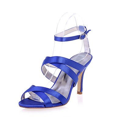 Open US6 amp;Amp; Sandals 5 Available EU37 Party 7 5 UK4 Evening Wedding Shoes Colors Heel Satin Women'S CN37 Shoes 5 More Toe Stiletto AzfIIZ